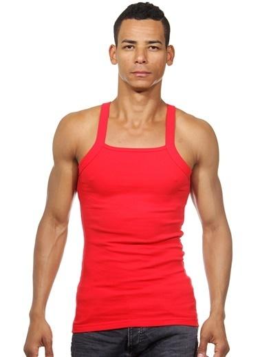 Dark Zone Slim Fit Askılı Atlet Kırmızı